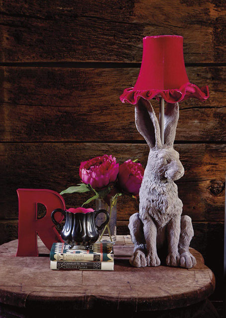 Abigail Ahern/EDITION Designer grey hare lamp for Debenhams