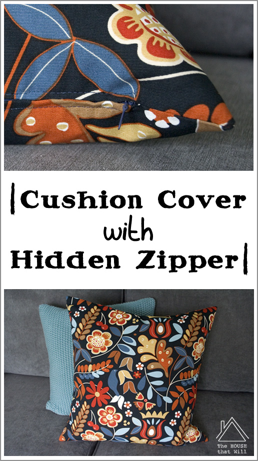 The House that Will | DIY Cushion Cover Throw Pillow with Hidden Zipper How To Sewing Tutorial