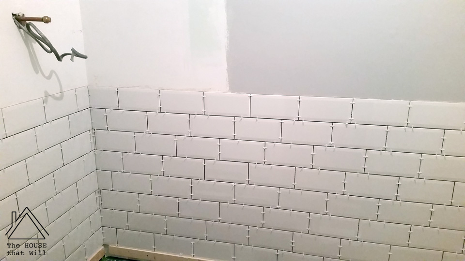 The House that Will | DIY Wall Tiles 33% 1/3 one third offset pattern how to