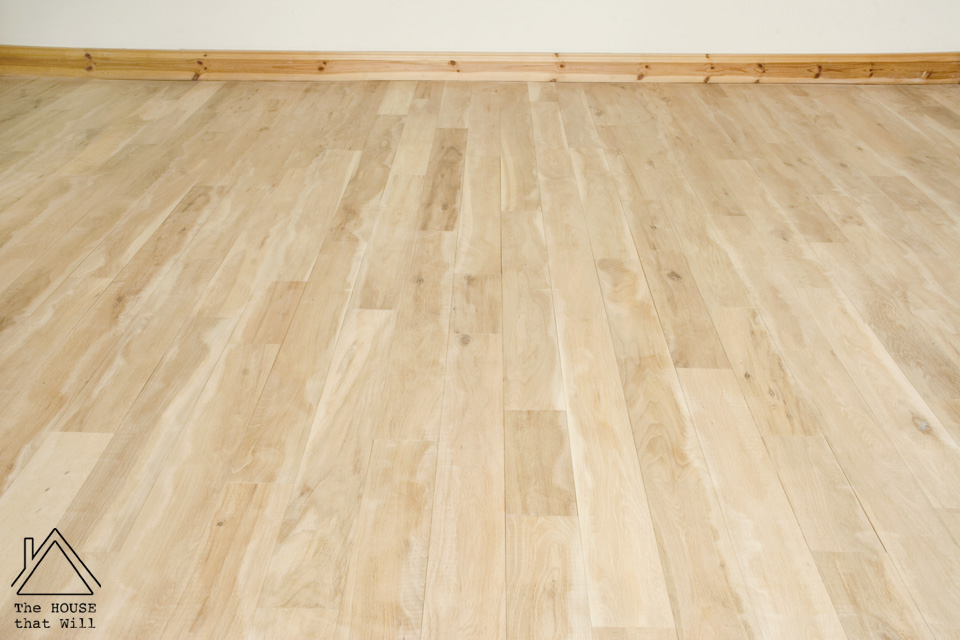 The House that Will | Refinishing a Solid Oak Hardwood Floor