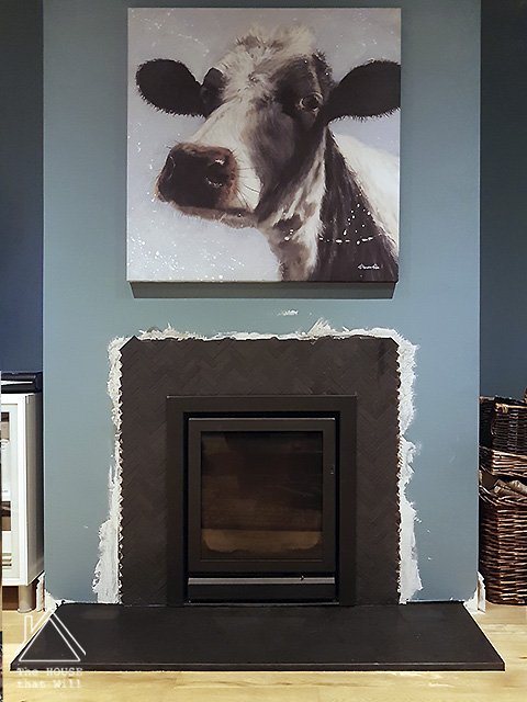 The House that Will | DIY Stone & Slate Fireplace - how to cut and reuse secondhand