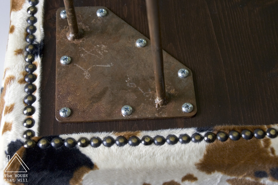 The House that Will | DIY Modern Faux Cow Hide Upholstered Bench Seat