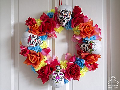 DIY Day of the Dead Wreath